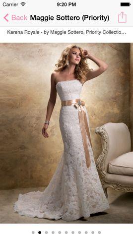 Dress Inspiration - iWedding Deluxe - iOS 7 wedding planner
