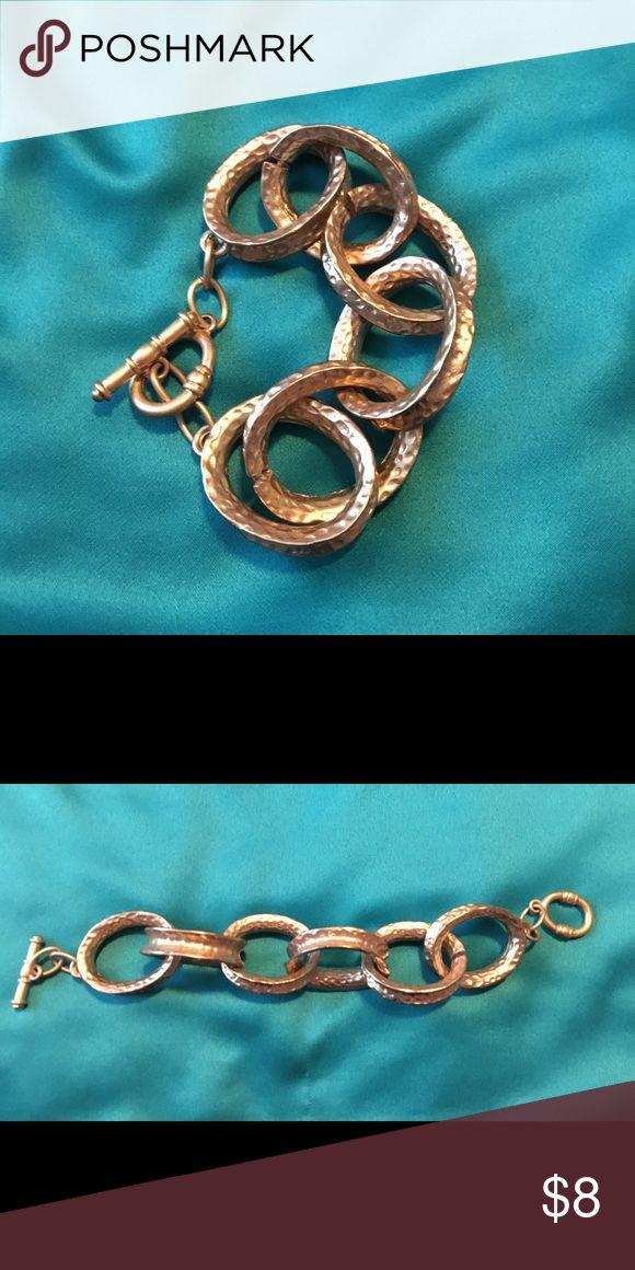 Large gold chain link bracelet Large gold chain link bracelet. Toggle. 8 inch The Limited Jewelry Bracelets