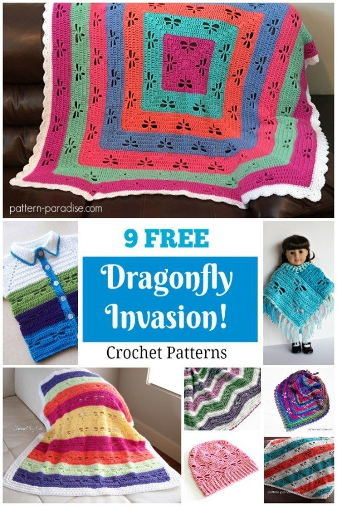Crochet Finds: Dragonfly Invasion