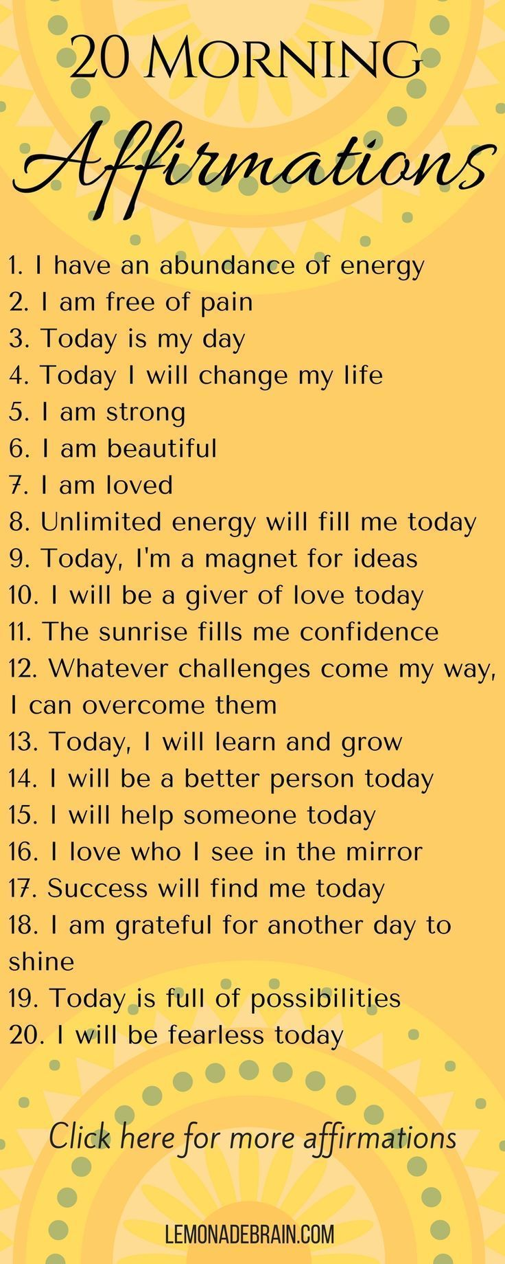 Affirmations: Use Positive Daily Affirmations – Victoria D