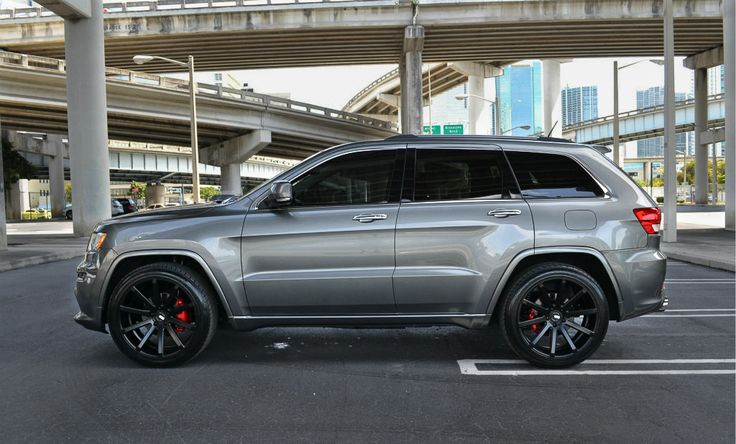 2005 jeep grand cherokee with black rims | ... Matte Black staggered Concave wheels | Porsche Cayenne 955 957 wheels