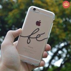 Capa de Silicone Transparente Fé para iPhone 4/4S/5/5S/5C/6/6S/6 Plus
