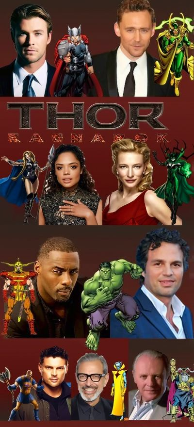 The incredible cast of THOR: RAGNAROK next to their comic book characters (Steven Hall)  https://www.facebook.com/MarvelCinematicUniverse/photos/a.255014641181782.86037.217181691631744/1379204918762743/?type=3&theater