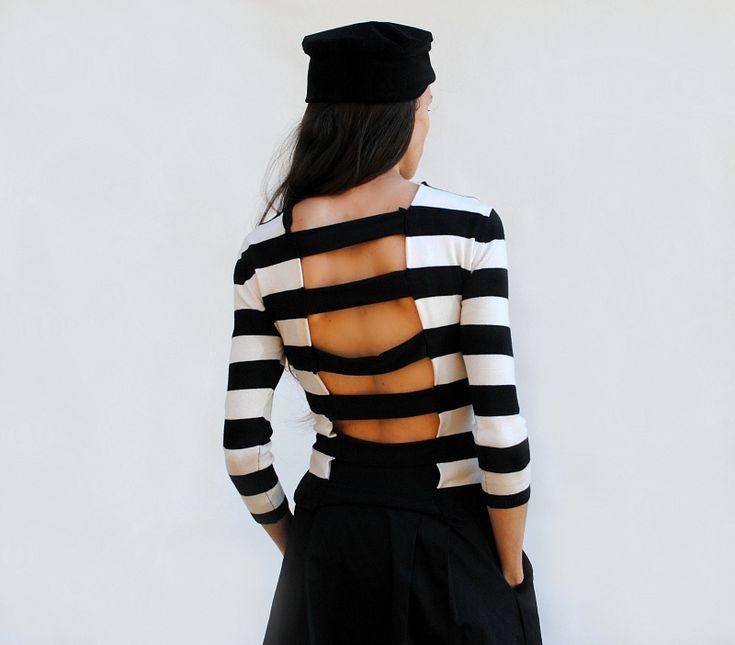 DIY: Cut out Striped Shirt Refashion