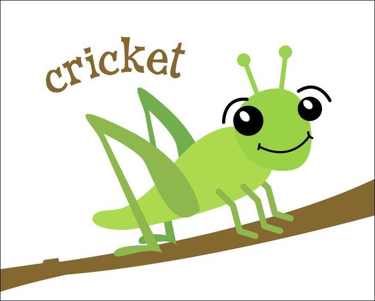 Cricket Insect on Preschool Chameleon Art