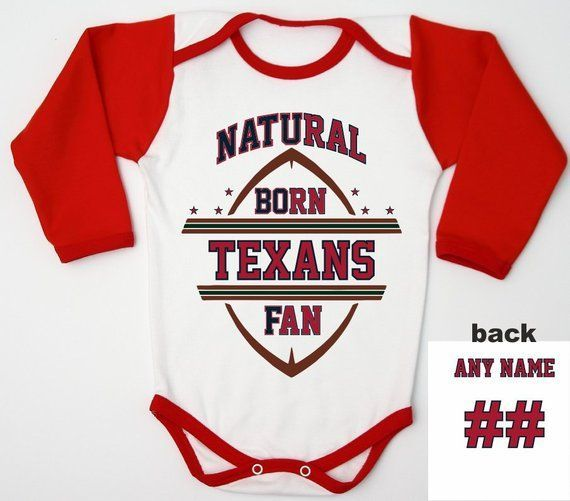23cd7afc0 Newborn Texans Outfit   Football Baby Romper   Football Baby Shower    Houston Baby bodysuit   Infant Texans Shirt   Personalized Baby Jersey