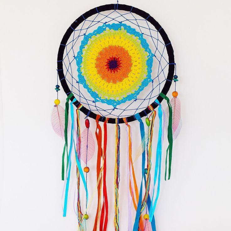 Rainbow Crochet Dream Catcher