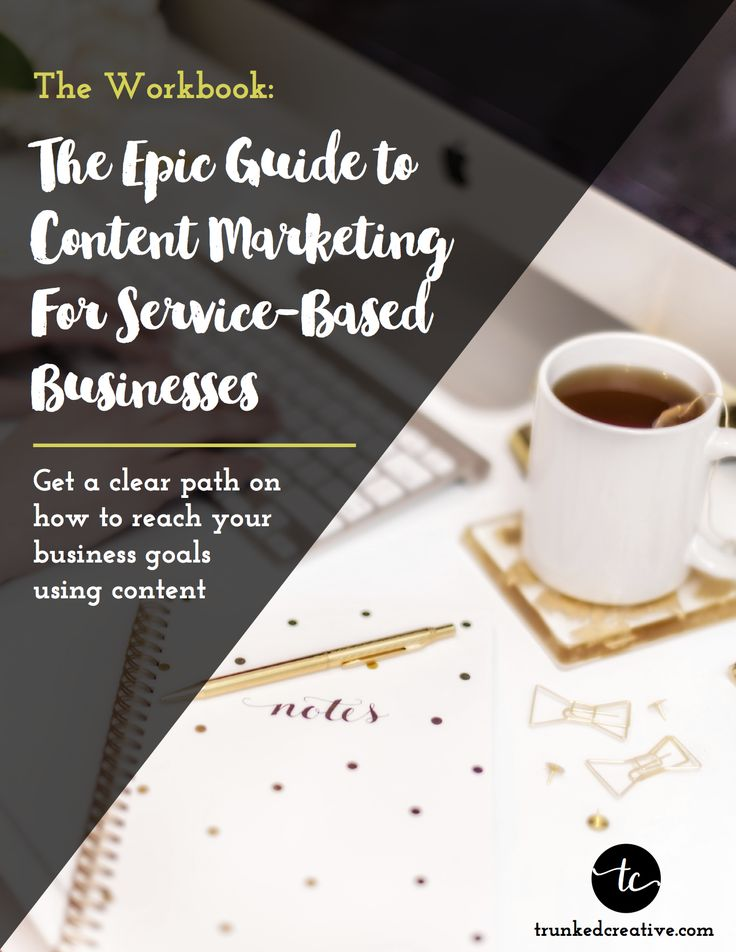 Get the free EPIC guide to content marketing for your service-based business. From Trunked Creative