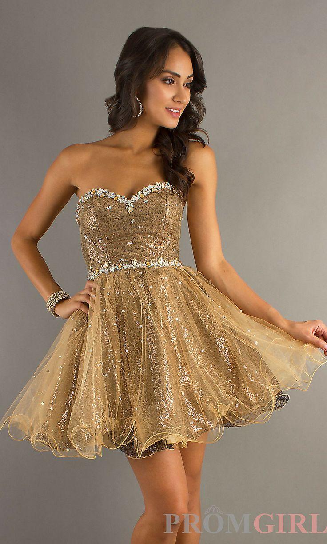 Short Gold Dresses for Women | Dress images