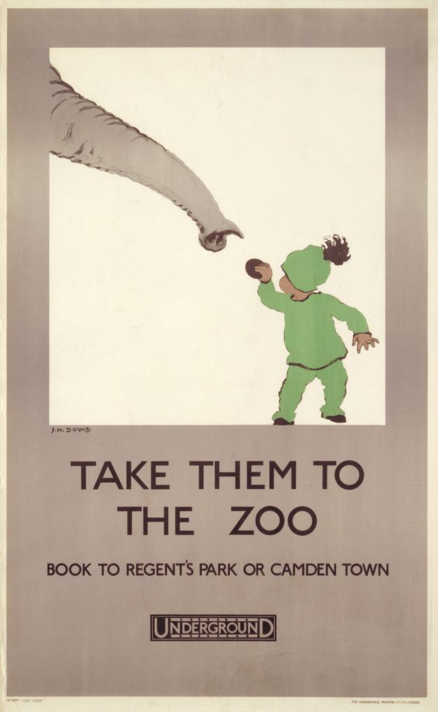 1924: 'Take them to the zoo' | 20 Gorgeous Vintage Posters For The London Underground