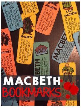 FREE Macbeth bookmarks! Print-and-go!