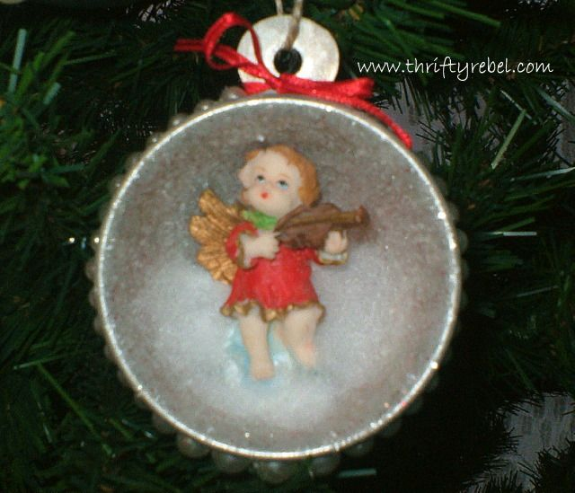 Vintage Measuring Cup Shadow Box Angel Ornaments Spoon Ornaments How To Make Christmas Tree Angel Ornaments