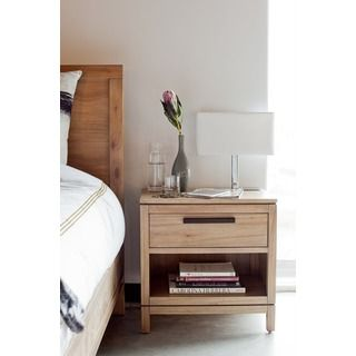 Aurelle Home Carlson Natural Nightstand | Overstock.com Shopping - The Best Deals on Nightstands