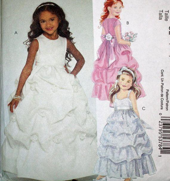 UNCUT McCall's M5570 Girls' Dress Girls' Size