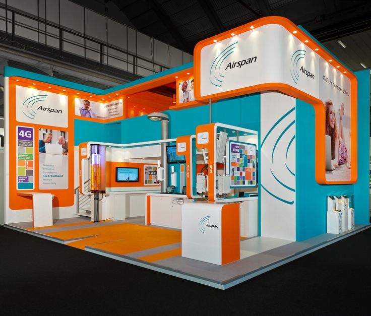 Exhibition Booth Flooring : This trade show exhibit is from the mobile world congress
