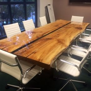 10' Live Edge Conference Table by Catherine DiPietro