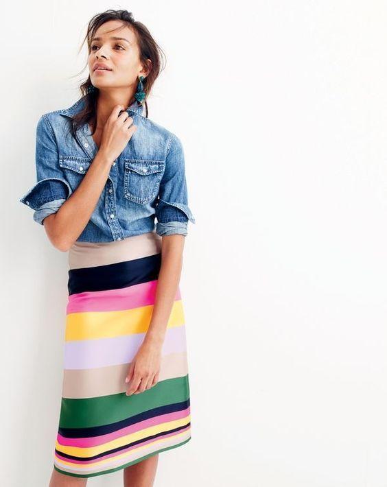 Pop Stripe Skirt