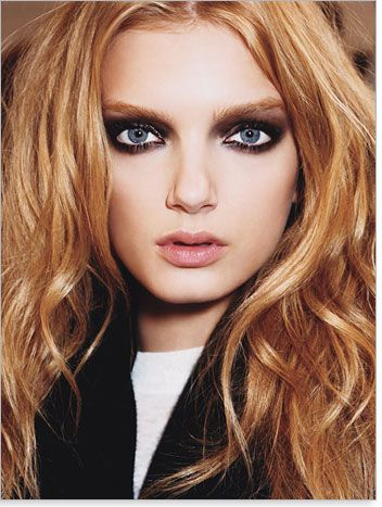 Makeup Ideas for Blue Eyes, Red Hair