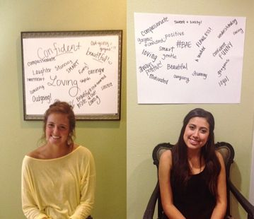 Internal PR idea: Have sisters sit in front of blank poster board while sisters fill the paper with positive comments and messages about them.