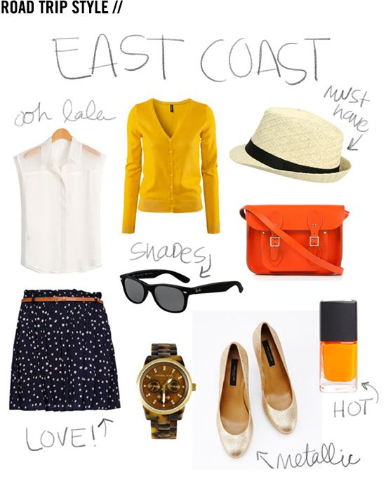 East Coast style road trip outfit.