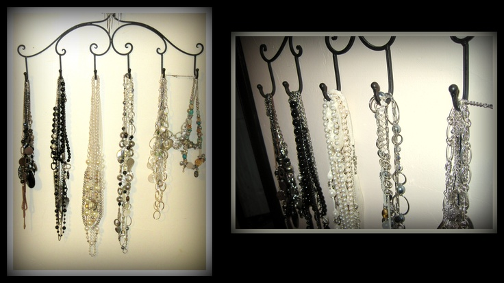 Rack from Hobby Lobby to hang up my necklaces on Sconces Wall Decor Hobby Lobby id=98880