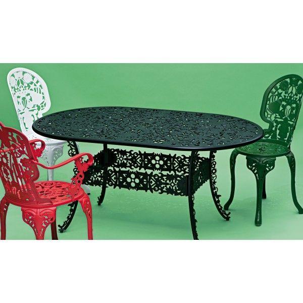 In de Seletti Industry Garden tuinset 70 tafel + 4 stoelen (chair) zitten allemaal voorwerpen verstopt, kijk maar of je ze kan vinden! #tuinset #tuinstoel #tuintafel #origineel #Seletti #tuin #buiten #design #Flinders