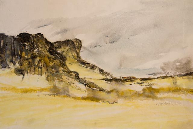 """""""Namibian Landscape 01"""" by Melanie Meyer from her Emergence Art Gallery in Cape Town"""