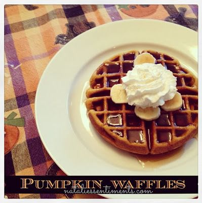 Sunday Pumpkin Waffles - yummy and super filling. I used half the sugar, brown instead of white, and added a bit of extra milk to thin out.