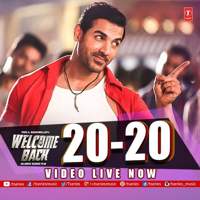 Watch John Abraham setting fire on your screens with his killer desi moves!! * 20-20 * from WELCOME BACK --> http://bit.ly/1WBB6nE  #TseriesMusic #WelcomeBack #JohnAbraham #Anumalik
