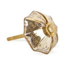 Pomo en cristal dorado de Zara Home - Pomo en cristal dorado de Zara Home. Foto © www.zarahome.com