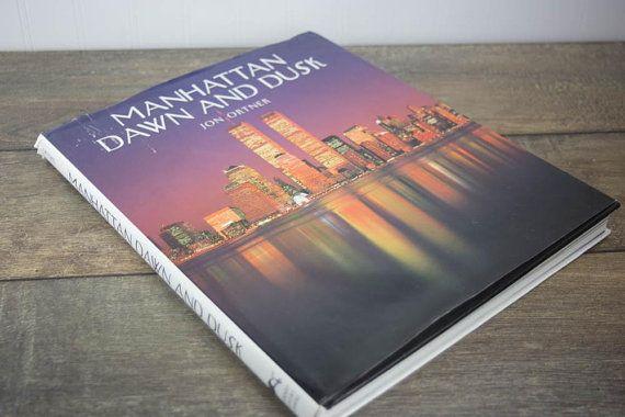 Manhattan Dawn And Dusk By Jon Ortner Vintage Hardcover Coffee