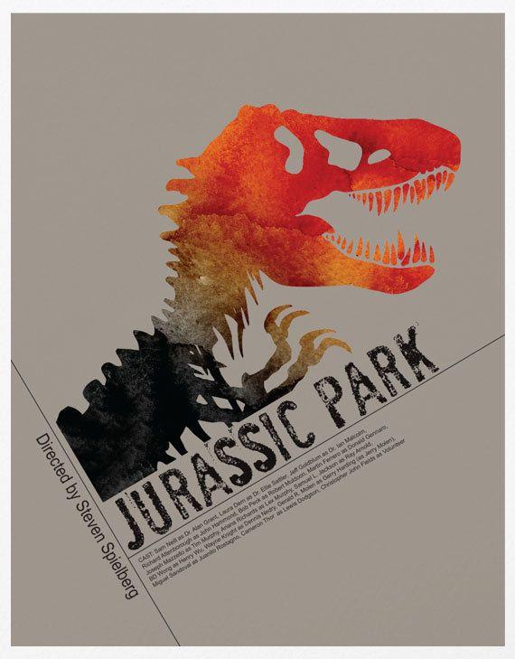 Jurassic Park A3 Poster Print by sanasini on Etsy