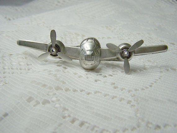 P 38 Airplane Tie Tack