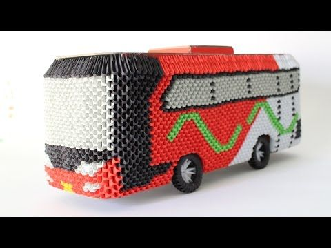 HowTo: 3D Origami Bus Om Telolet Om - Part 3 - YouTube