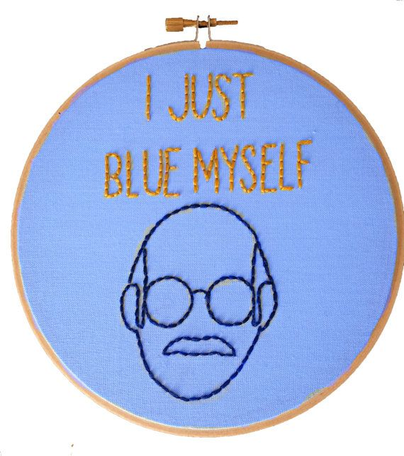 Tobias Funke Embroidery Hoop Art.  Any fan of the cult classic Arrested Development TV Show will know this quote right away. Tobias Funke, Quote Art,Arrested Development Cross Stitch,Embroidery Hoop Art,Funny Embroidery,Framed Quotes,Arrested Development TV Show