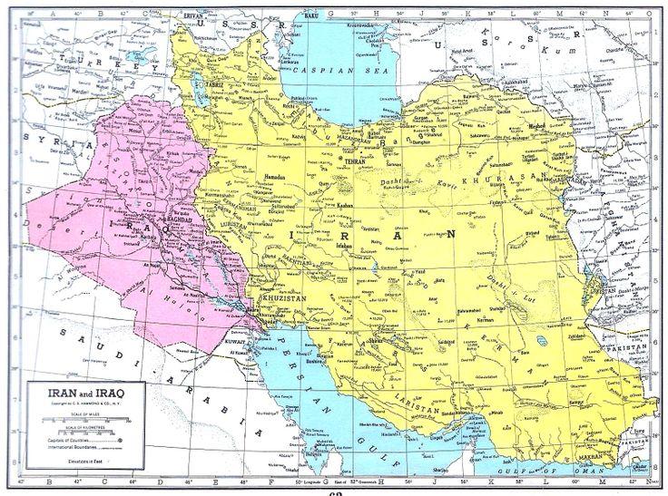 mapa de irn de 1949