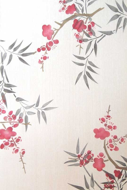 Cherry blossoms stencil cherry blossoms stenciling and for Cherry blossom wall mural stencil