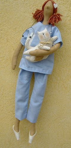 Vet surgeon Tilda doll by countrykitty, via Flickr
