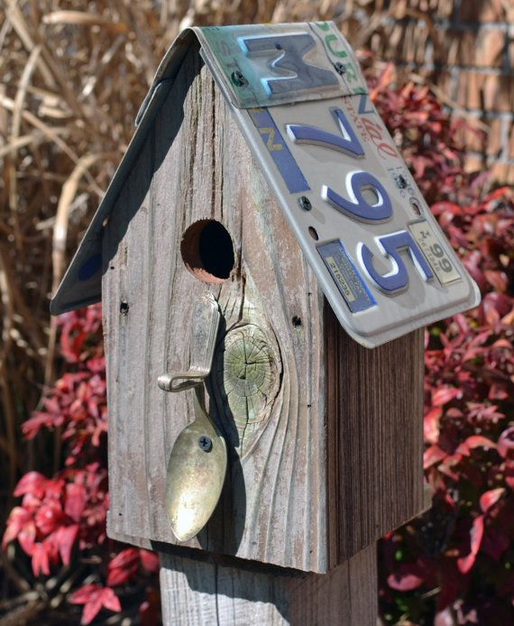 Rustic Spoon Birdhouse  Barnwood Birdhouse  by ruraloriginals, $28.00