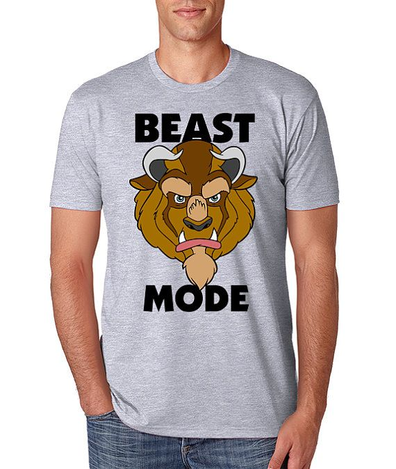 Beast Iron On T-shirt Transfer Printable Beauty and the Beast Disney Beast Mode Custom Personalized shirt Family Vacation couple matching