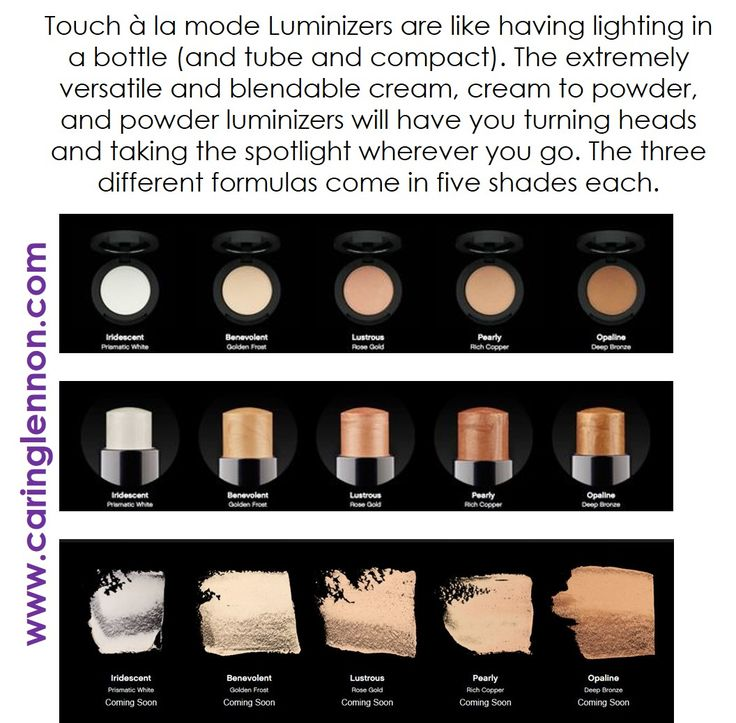 Check out Younique's new line of Luminizers - Touch à la mode ! The gorgeous powders, creams & liquids will be available on March 1st. www.caringlennon.com