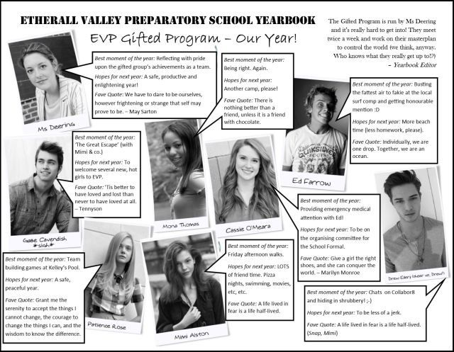 Etherall Valley Prep Yearbook - Gifted program