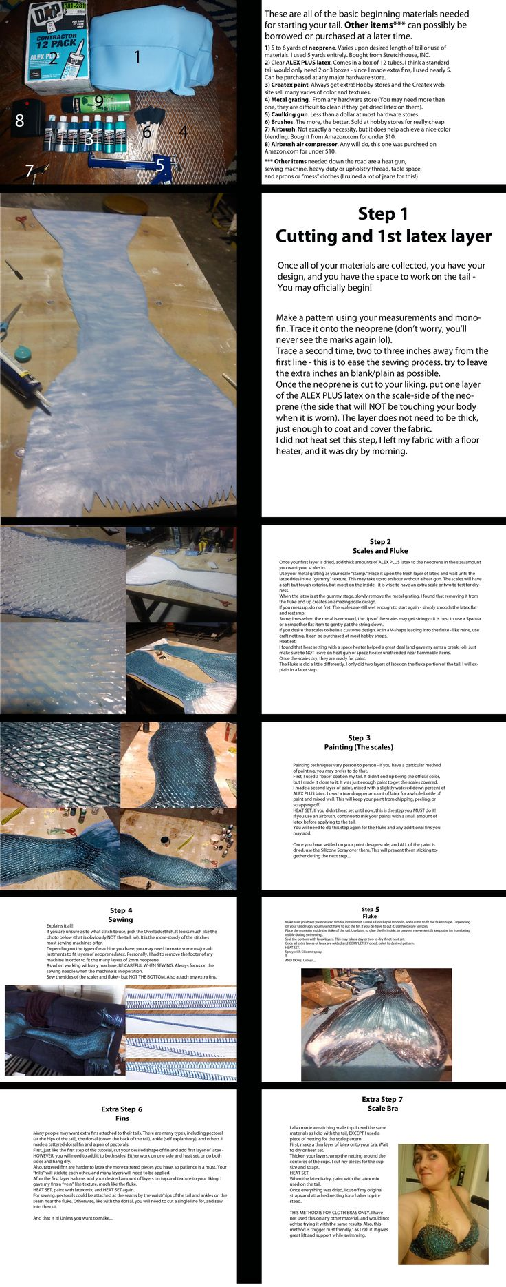 How to make a mermaid tail out of neoprene and latex!!!