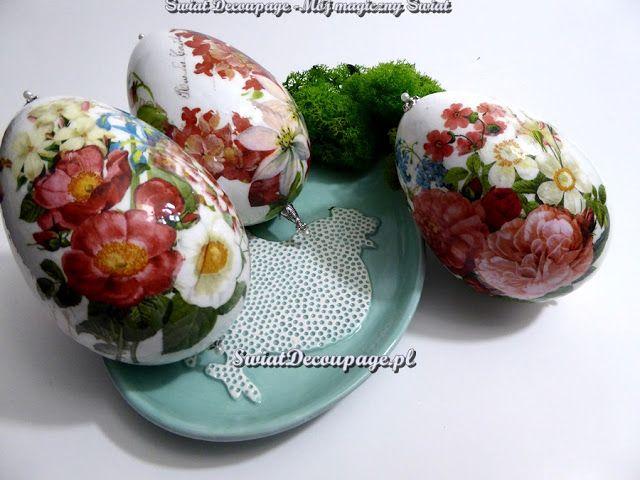 Świat Decoupage -  Mój magiczny Świat : pisanki z kwiatami