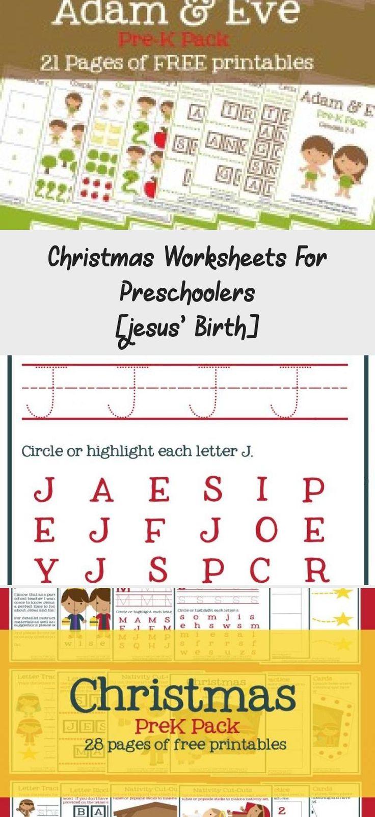 Christmas Worksheets for Preschoolers [Jesus' Birth