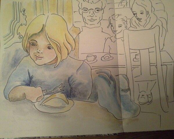 Teasing - watercolor