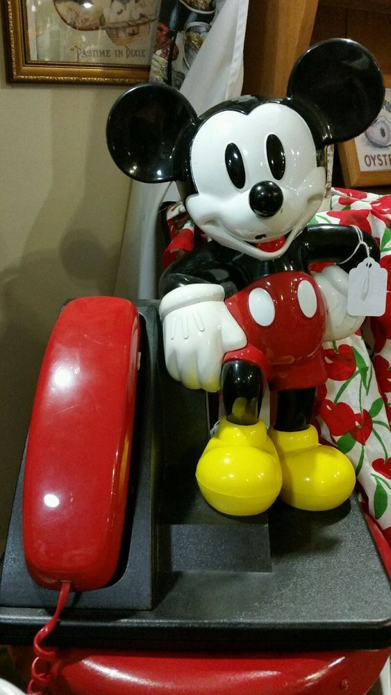 Vintage Mikey Mouse Desk Telephone Disney Home Decor Woman