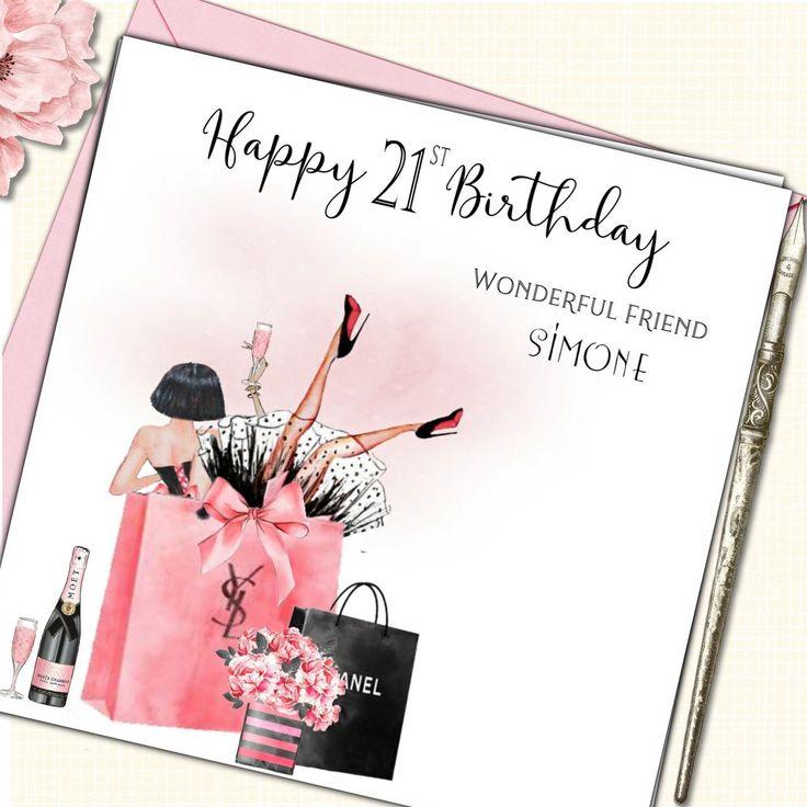 Personalised Birthday Card Daughter Sister Best Friend BFF