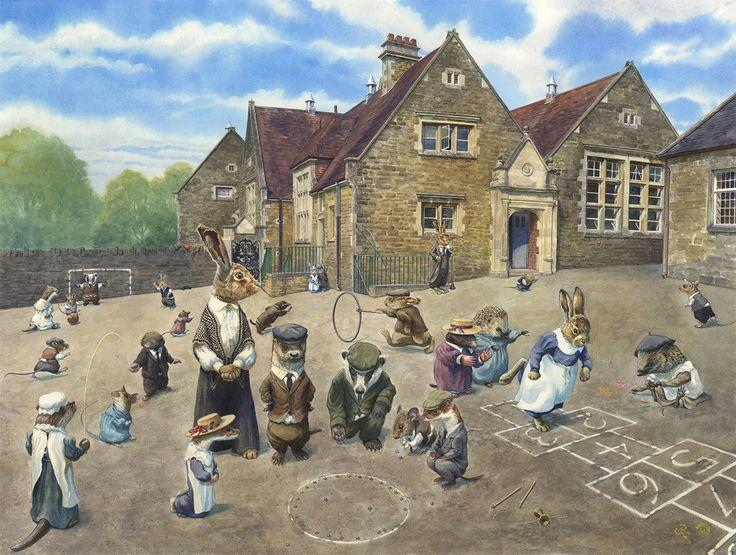 Chris Dunn Illustration/Fine Art: School Playground