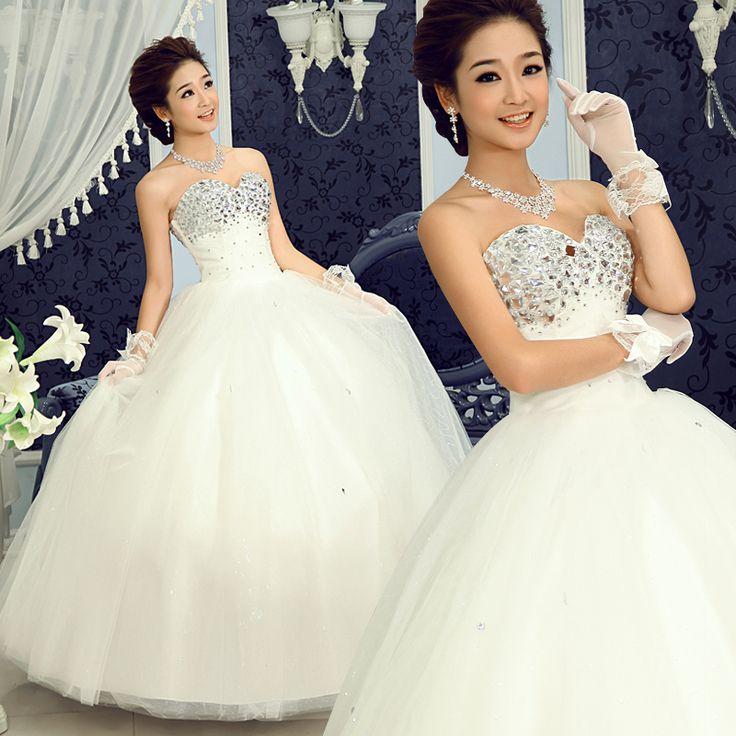 Найти ещё Свадебные платья Сведения о Бесплатная доставка! 2013 Koreaean   стиль сладкий принцесса горный хрусталь свадебное платье ; Aiweiyi, высокое качество одеваться новые, Китай рукава платья поставщиков, Бюджетный свадьбы платья от Never Land  на Aliexpress.com